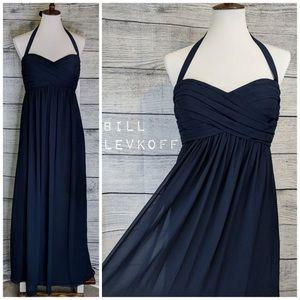 Bill Levkoff Navy Dress